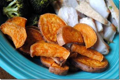 sweet potato wedges roasted