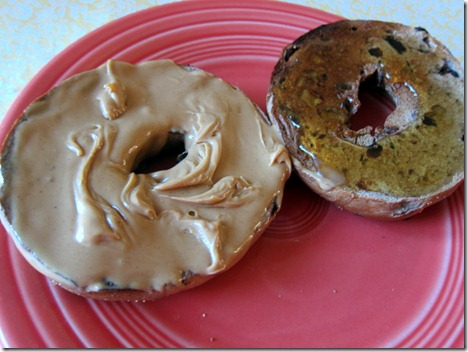 Peanut Butter and Honey Bagel