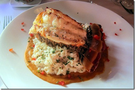 lobster with crab risotto