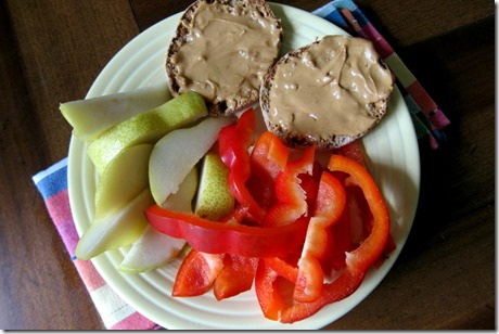 peanut butter English muffin lunch