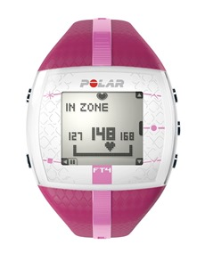 Polar FT4 heart rate monitor pink