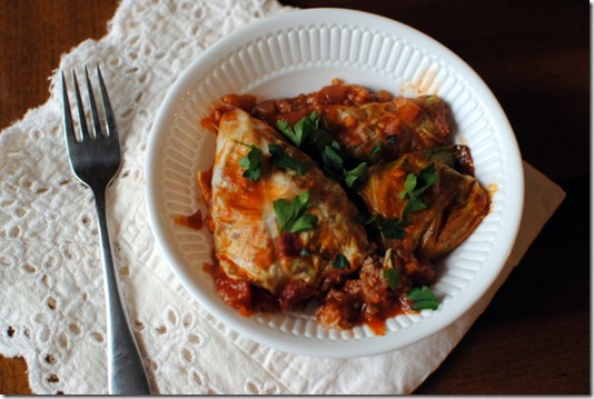 Blue Apron Stuffed Cabbage