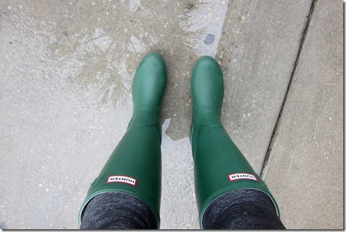 Hunter rain boots green