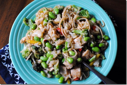 Whole Wheat Pasta with Edamame