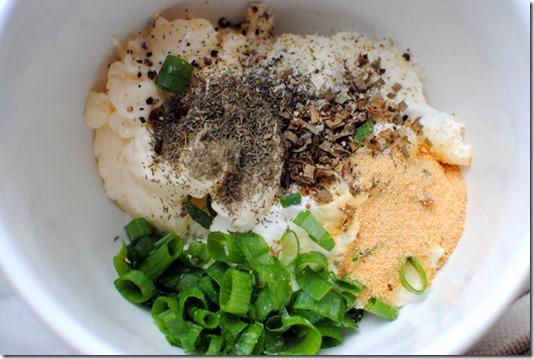 Healthy Veggie Dip Ingredients