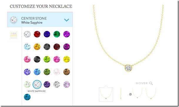 Gemvara customizable necklace