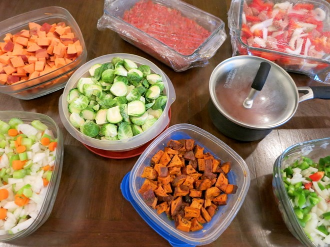 Meal Planning Prepping 5 Healthy Dinners - Peanut Butter Fingers