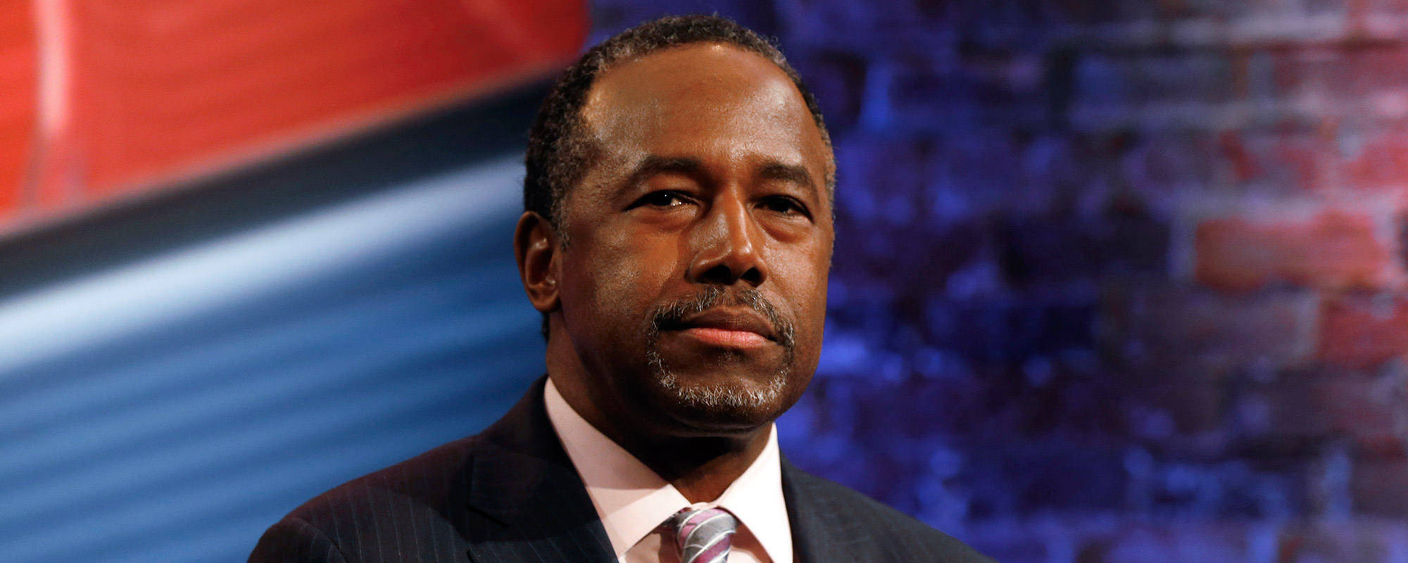 Republican presidential candidate Ben Carson waits during a commercial break at a CNN town hall event, Tuesday, Feb. 16, 2016, in Greenville, S.C.