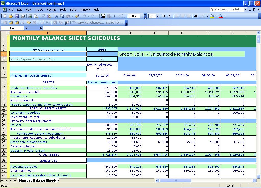 excel spreadsheet templates financial