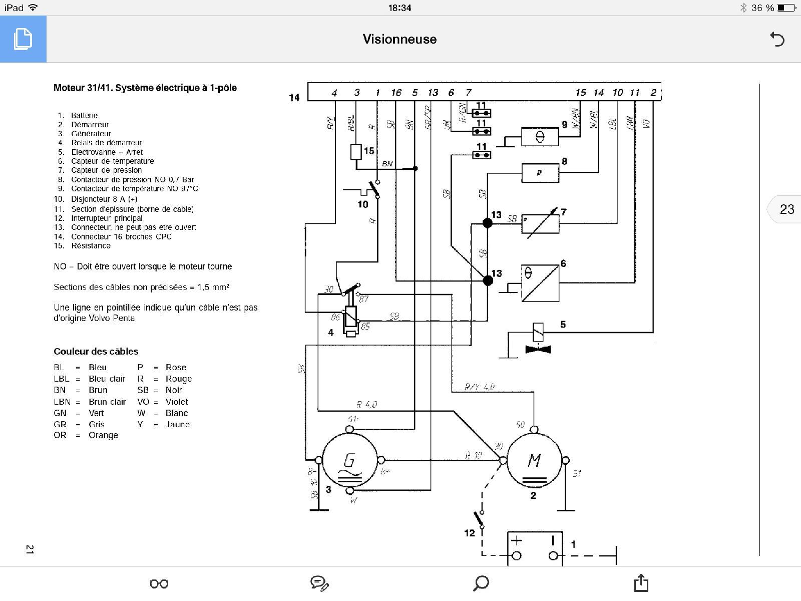 volvo schema moteur electrique bateau