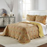 Waverly Swept Away 3 Piece Queen Size Bedspread Set