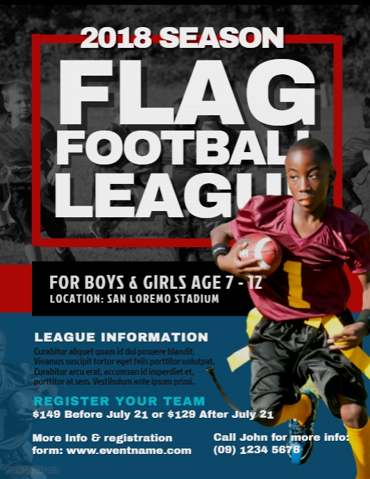 Flag Football Flyer - FREE DOWNLOAD