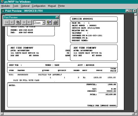 INVOICE MODULE - invoice print out