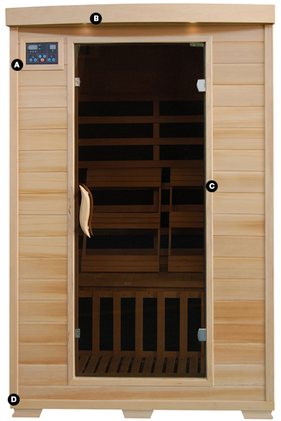 CORONADO - 2 Person Infrared Sauna with Carbon Heaters PC Pools