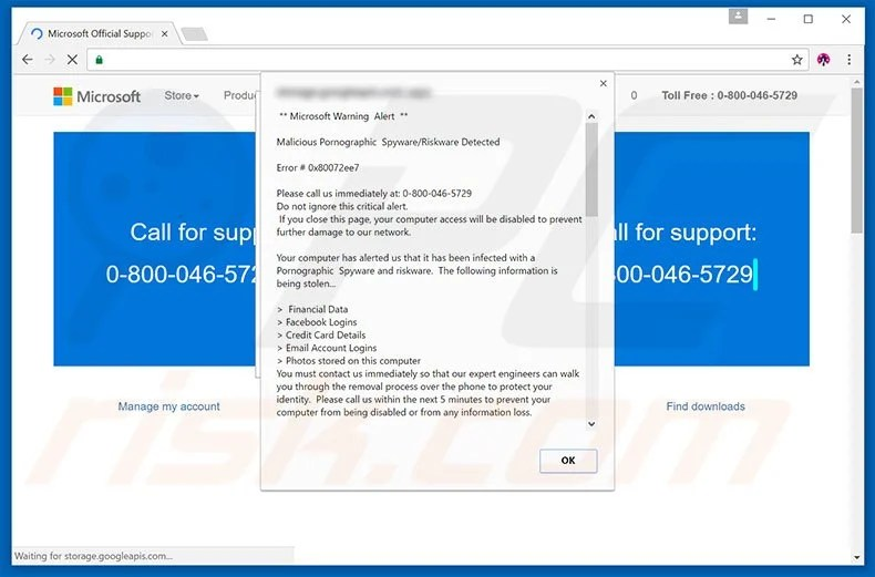 How to uninstall Microsoft Warning Alert Scam - Virus removal