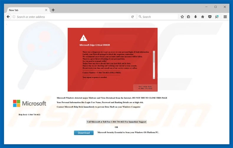 How to uninstall Microsoft Edge Critical ERROR Scam - Virus removal