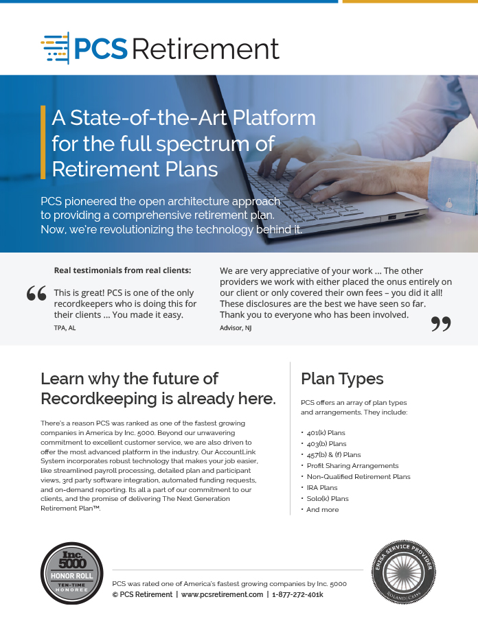 Advisor Home - retirement program
