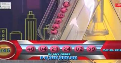 Lotto Results for May 30, 2018 – 6/55 & 6/45 Draws