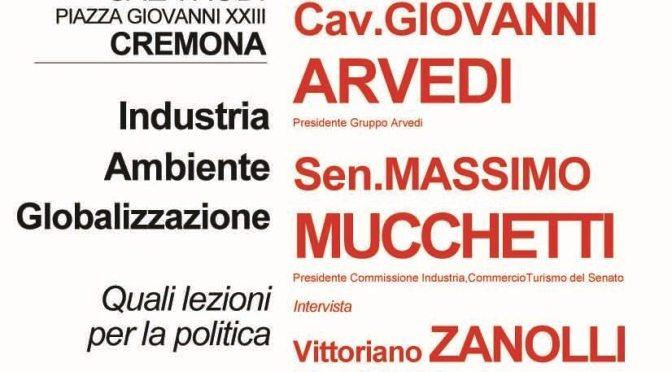 Industria, ambiente, globalizzazione: quali lezioni per la politica. Convegno PD, sabato 22 ottobre, ore 10 – sala Rodi (Cremona)