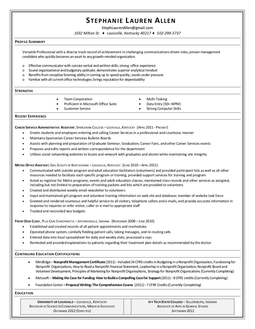 Proficient Resume Gallery - resume format examples 2018 - proficient in microsoft office