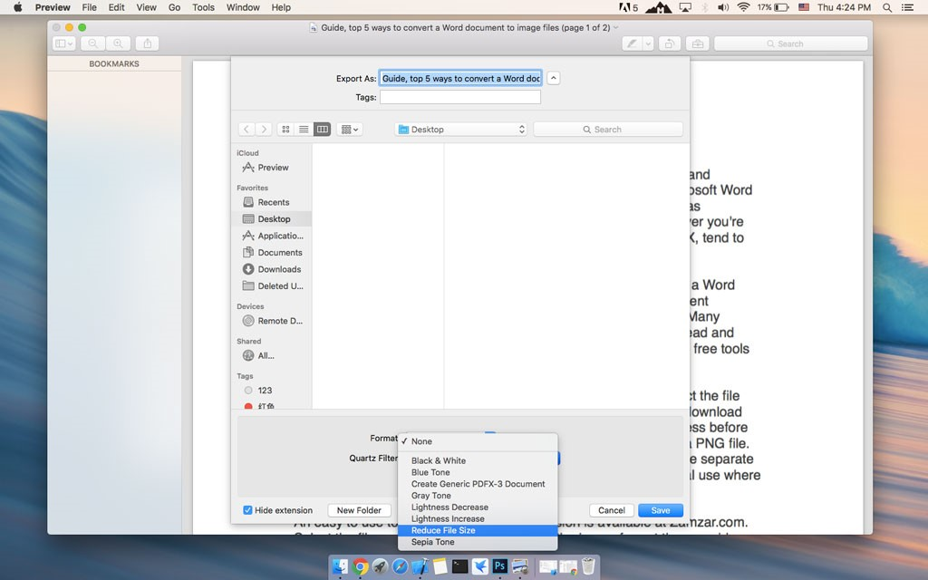 How to shrink PDF files on Mac \u2013 PDFConverters Official Website