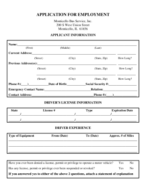 Worksource Application Fill Online Printable Fillable Truck Driver Job Application Form Fill Online Printable