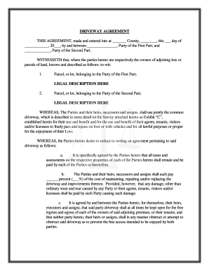 Sample Business Listing Agreement Sample Contract Agreement Sample  Templates Free Driveway Easement Form Fill Online Printable