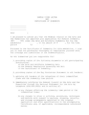 Credit Intermediaries Applying For An Igf Guarantee Sample Of Indemnity Form Xformsieraddnscom Prepossessing