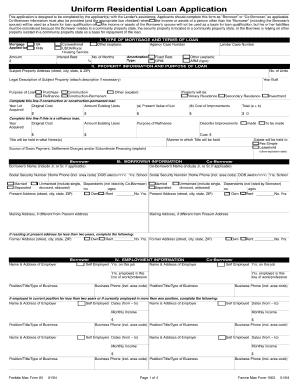 Job Application Online Form Printable Business Forms Uniform Residential Loan Form Fill Online Printable