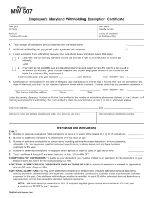 Maryland Tax Forms