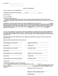 Example Florida Quit - Fill Online, Printable, Fillable ...