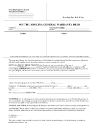 General Warranty Deed Form Templates - Fillable ...