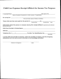 Childcare Recipet - Fill Online, Printable, Fillable ...