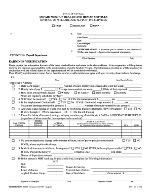 Employment Verification Form For Your Texas Benefits | Job Offer ...