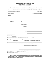 Waiver Of Lien Labor And Materials - Fill Online ...