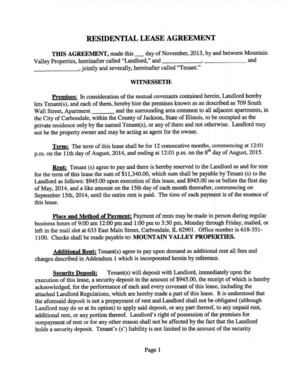 Fillable Online Residential Lease or Month-to-Month Agreement - Westside Rentals Fax Email Print ...