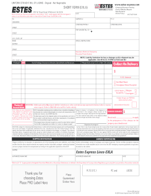 Straight Bill Of Lading Place Short Form Uniform Straight Bill Of Lading Original Forms And