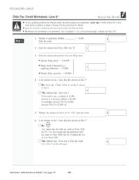 Child Credit Worksheet Free Worksheets Library