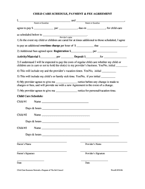 Sample Contract Nanny | Resume Pdf Download