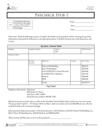 paycheck tax calculator Forms and Templates - Fillable ...
