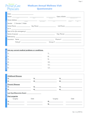Medicare Supplement Plans Policies For Your Needs Medicare Annual Wellness Form Template Car Pictures Car