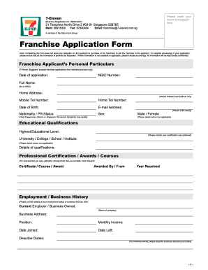 Application Form Singapore Aviation Academy Seven Eleven Application Online Fill Online Printable