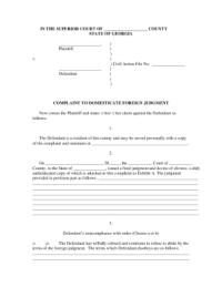 Bill Of Sale Form Georgia Child Custody Form Templates ...