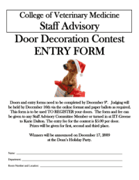 College Door Decorating Contest Judging Form - Fill Online ...