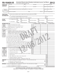1040x Form 2012 Templates - Fillable & Printable Samples ...