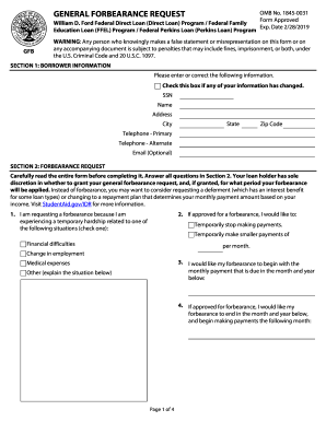19 Printable forbearance finance Forms and Templates - Fillable Samples in PDF, Word to Download ...