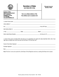 Arkansas Vehicle Bill Of Sale Form Templates - Fillable ...