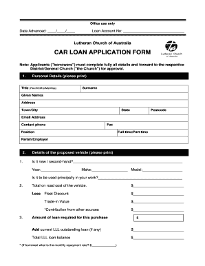 8 Printable staff loan application form template - Fillable Samples in PDF, Word to Download ...