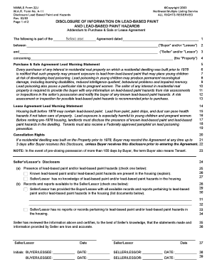 Bill Of Sale Form California Lead Based Paint Disclosure Form Templates - Fillable & Printable ...