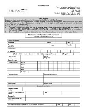 sample of credit application form